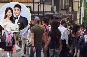 Lâm Tâm Như - Hoắc Kiến Hoa nắm tay nhau tình tứ tại Nhật Bản