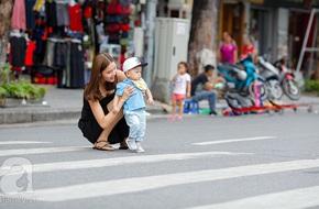Kỳ Hân đã khác hơn trong mắt người hâm mộ với hình ảnh bình yên bên con trai trên phố đi bộ Hồ Gươm