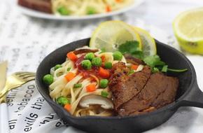 Món ngon cuối tuần: Mì bò bít tết