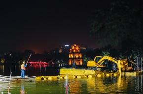 Hà Nội: Bắt đầu nạo vét, cải tạo Hồ Gươm