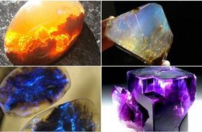 Những viên đá đẹp đến lạ lùng như chứa cả vũ trụ bên trong