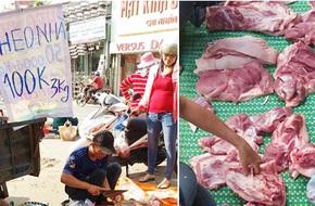 Thực hư chuyện thịt heo 100.000/3kg bán tràn lan khắp lề đường Sài Gòn