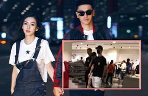 Bắt gặp Angelababy và Huỳnh Hiểu Minh đi mua sắm cuối tuần