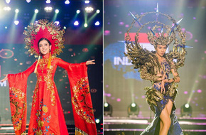 Huyền My xuất sắc đứng đầu bình chọn phần thi Trang phục Dân tộc