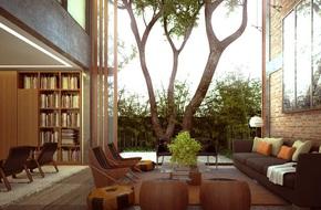 Thiết kế tường gạch độc đáo giúp phòng khách đẹp đến khó tả