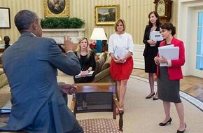 Những cử chỉ của ông Obama khiến phái đẹp nức lòng