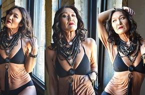 """Tự tin với chiếc """"áo da"""" của mình, người phụ nữ 26 tuổi khoe dáng gợi cảm, đánh bại mọi tiêu chuẩn về vẻ đẹp"""