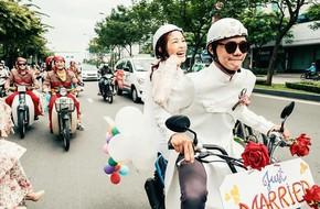 Cả thế giới ra mà xem: Đám cưới sau 9 năm yêu với màn rước dâu