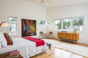 Thiết kế phòng ngủ theo phong cách Midcentury ấm áp đón đông về