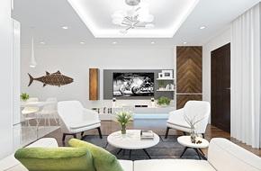 Tư vấn thiết kế phòng khách mang phong cách hiện đại với tổng chi phí chưa đến 30 triệu đồng