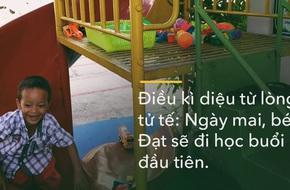 Điều kì diệu từ lòng tử tế: Đúng ngày 8/3, 2 mẹ con cậu bé xếp dép sẽ đi làm, đi học buổi đầu tiên