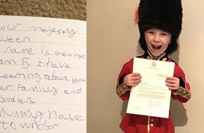 Bé trai 6 tuổi gửi thư xin làm cận vệ hoàng gia, Nữ hoàng Anh bất ngờ hồi đáp