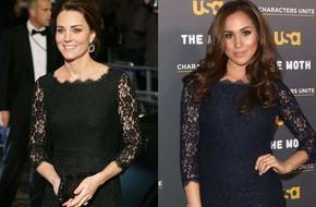 Trước khi trở thành người một nhà, công nương Kate và công nương tương lai Meghan Markle đã có màn 'đụng hàng' váy áo thú vị