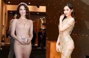 Hoa hậu đại dương Ngân Anh cùng dàn mỹ nhân thiêu đốt thảm đỏ show thời trang của Chung Thanh Phong
