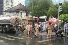 TP.HCM: Nữ sinh đại học bị xe bồn cán chết ngay tại trung tâm quận 1