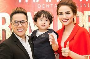 Hoa hậu Diễm Hương rạng ngời hạnh phúc bên chồng con