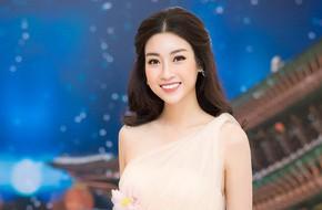 Hoa hậu Mỹ Linh đẹp mong manh như nàng Lọ Lem dù trời Hà Nội lạnh