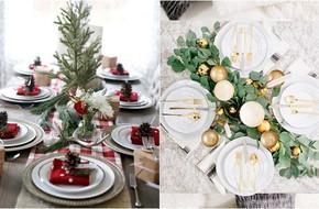 Trang trí bàn ăn thật lung linh và ấm cúng cho đêm Giáng sinh an lành