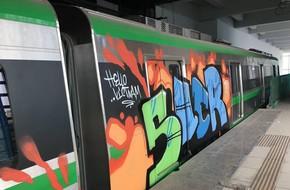 Hà Nội: Công an truy tìm người vẽ hình lên tàu đường sắt Cát Linh – Hà Đông