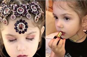Clip: Bé gái 3 tuổi biết trang điểm thuần thục đang gặp phải làn sóng phản đối dữ dội