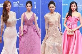 Các mỹ nữ xinh đẹp bậc nhất Hoa ngữ đồng loạt sến súa và già chát trên thảm đỏ