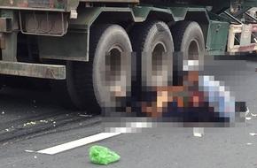 Hải Phòng: Người phụ nữ tử vong dưới bánh xe container