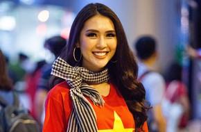 Tường Linh diện áo cờ đỏ sao vàng trở về nước sau Hoa hậu Liên lục địa