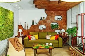 Ý tưởng sáng tạo với trần gỗ