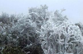 Băng tuyết phủ dày trên đỉnh Mẫu Sơn