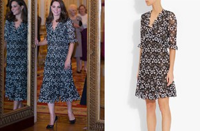 Công nương Kate đã phải nhờ người chỉnh lại thiết kế váy này để hợp hơn với vóc dáng bầu bí tháng thứ 6 của mình