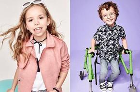 Trẻ em khuyết tật trở thành người mẫu chuyên nghiệp trong chiến dịch mới của thương hiệu thời trang
