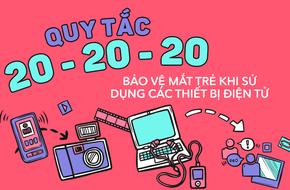 Bảo vệ mắt bé khi sử dụng các thiết bị điện tử bằng quy tắc 20-20-20