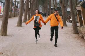 Văn Mai Hương và Bình An diện đồ đôi thân mật tại Hàn Quốc