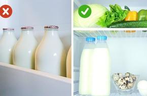 Hóa ra từ trước tới giờ tôi luôn cất sữa và các thực phẩm khác sai chỗ trong tủ lạnh mà chẳng biết gì