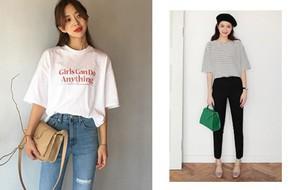 15 set đồ với áo phông kẻ ngang và áo phông trắng mà bạn nên tham khảo ngay từ bây giờ