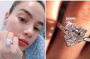 Khoe đã có nhẫn kim cương