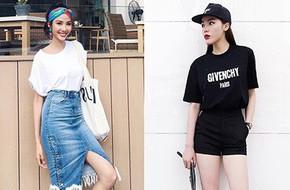 Vừa mới vào hè, sao Việt đã có cả loạt gợi ý mix đồ hay ho với áo phông để bạn áp dụng