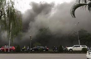 Hải Phòng: Cháy lớn tại nhà hàng, cột khói bao trùm hàng chục mét