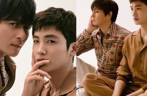 Bộ hình gây bão Park Hyung Sik và Jang Dong Gun: Thật tội cho chàng trai đó khi phải chụp với quý ông cực phẩm
