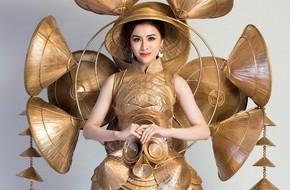 Cận cảnh 'Trang phục sinh thái' Thư Dung đem đi tranh tài tại Miss Eco International 2018