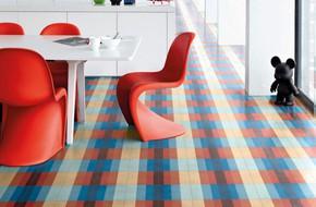 Những sàn nhà sử dụng chất liệu gạch hoa văn vô cùng bắt mắt và ấn tượng