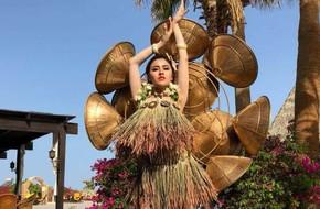 Sau sự cố bị mất trang phục, Thư Dung lọt Top 15 Miss Eco International 2018 nhờ đồ 'tự chế'
