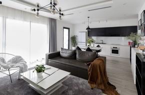Căn hộ đen trắng 100m² đẹp như nhà trên báo nước ngoài với tổng chi phí 850 triệu đồng ở Thanh Xuân, Hà Nội