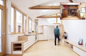Từ nhà để xe 50m² thành ngôi nhà rộng đẹp đến bất ngờ nhờ biết cách 'ăn gian' diện tích