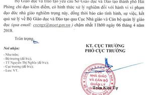 Bộ GD-ĐT yêu cầu Hải Phòng xử lý vi phạm đạo đức cô giáo vụ bắt học sinh súc miệng bằng nước giẻ lau bảng
