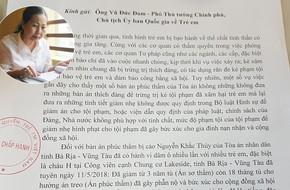 Hội Bảo vệ Quyền trẻ em Việt Nam gửi đơn cho Phó Thủ tướng chính phủ về vụ Nguyễn Khắc Thủy dâm ô trẻ em