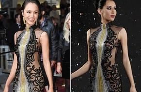 Xúng xính đi Cannes, Vũ Ngọc Anh bị netizen tố mặc thương hiệu ít tiếng nhưng lại nói là của Elie Saab