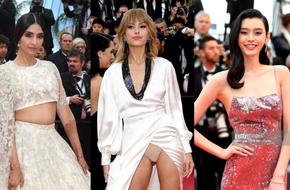 Người táo bạo diện váy hở nội y, kẻ khoe nguyên vòng eo nhiều mỡ trên thảm đỏ Cannes ngày thứ 7