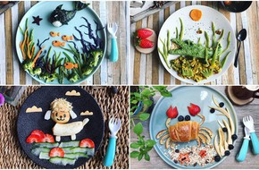 Mẹ Việt ở Pháp trang trí bữa ăn cho con chẳng khác gì những tác phẩm nghệ thuật đỉnh cao