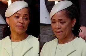 Mẹ Công nương Meghan lủi thủi một góc, nén nước mắt hạnh phúc trong đám cưới Hoàng gia của con gái